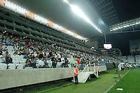 SAO PAULO, 17 DE JULHO DE 2014 - CAMPEONATO BRASILEIRO 2014 - CORINTHIANS X INTERNACIONAL - Torcida do time do Corinthians durante início da partida. Os times se enfrentam pela Décima Rodada do Campeonato Brasileiro 2014, no Estádio da Arena Corinthians, na zona leste da capital. foto: Paulo Fischer/Brazil Photo Press.