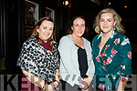 Enjoying the night out in Croi on Saturday night.<br /> L-r, Patsy O'Hare (Doon Tralee), Clare O'Mahoney (Abbeydorney) and Brenda O'Sullivan (Abbeydorney).