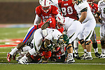 South Florida Bulls fullback Kennard Swanson (47) in action during the game between the South Florida Bulls and the SMU Mustangs at the Gerald J. Ford Stadium in Fort Worth, Texas. SMU leads USF 13 to 0 at halftime.