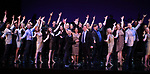 Ensemble cast during the curtain Call bows for the Actors Fund's 15th Anniversary Reunion Concert of 'Thoroughly Modern Millie' on February 18, 2018 at the Minskoff Theatre in New York City.