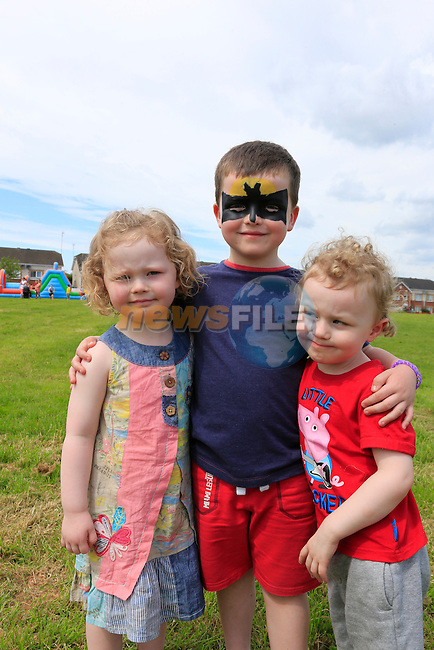 Emily, Aiden and Charlie Carr at the Knockbrack Downs fun day for Alice.<br /> Picture:  www.newsfile.ie
