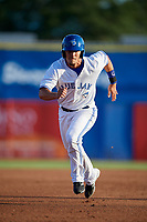 Dunedin Blue Jays first baseman Max Pentecost (10) running the bases during a game against the St. Lucie Mets on April 20, 2017 at Florida Auto Exchange Stadium in Dunedin, Florida.  Dunedin defeated St. Lucie 6-4.  (Mike Janes/Four Seam Images)