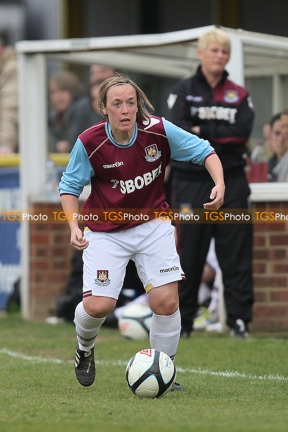 Tracey Duxbury in action for West Ham - West Ham United Ladies vs Coventry City Ladies - FA Womens Premier League Cup Quarter-Final at Ship Lane, Thurrock FC - 08/04/12 - MANDATORY CREDIT: Gavin Ellis/TGSPHOTO - Self billing applies where appropriate - 0845 094 6026 - contact@tgsphoto.co.uk - NO UNPAID USE.