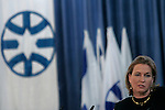 Israel's Ministry of Foreign Affairs holds a farewell ceremony for outgoing foreign minister Tzipi Livni (pictured), Jerusalem, March 30, 2009. Livni will head the opposition in the next government led by Binyamin Netanyahu. Photo by: Olivier Fitoussi/JINI...