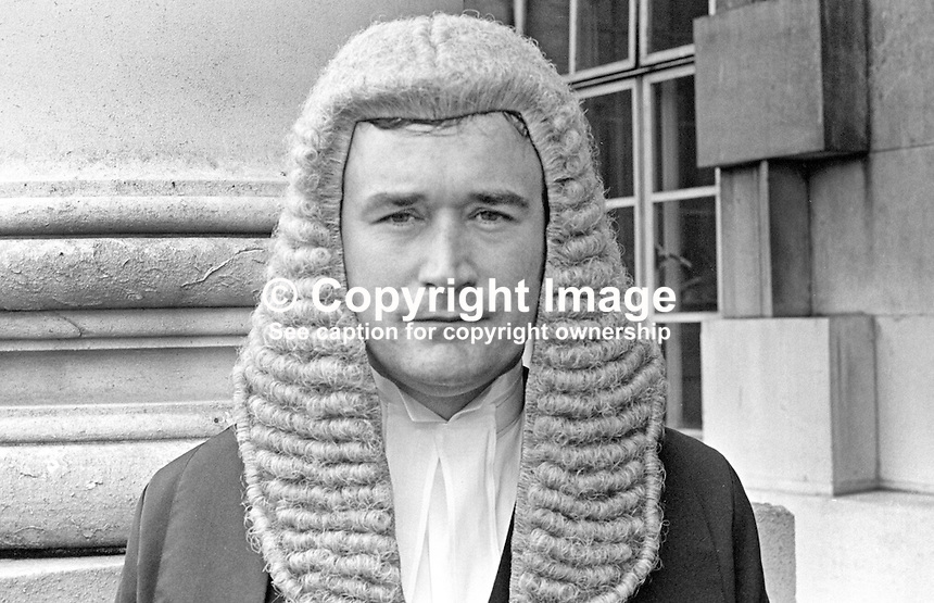 Michael Lavery, new barrister, N Ireland, 197110000460ML.<br /> <br /> Copyright Image from Victor Patterson, 54 Dorchester Park, Belfast, UK, BT9 6RJ<br /> <br /> t1: +44 28 9066 1296 (from Rep of Ireland 048 9066 1296)<br /> t2: +44 28 9002 2446 (from Rep of Ireland 048 9002 2446)<br /> m: +44 7802 353836<br /> <br /> e1: victorpatterson@me.com<br /> e2: victorpatterson@gmail.com<br /> <br /> The use of my copyright images is subject to my Terms &amp; Conditions.<br /> <br /> It is IMPORTANT that you familiarise yourself with them. They are available on my website at www.victorpatterson.com.<br /> <br /> None of my copyright images may be used on a website unless they are visibly watermarked, i.e. &copy; Victor Patterson within the body of the visible image. Metadata denoting my copyright must NOT be deleted. <br /> <br /> Web use is extra at currently recommended NUJ rates.