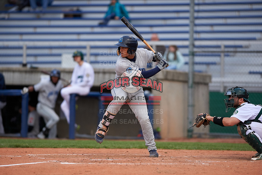 Lake County Captains catcher Bo Naylor (24) during a Midwest League game against the Beloit Snappers at Pohlman Field on May 6, 2019 in Beloit, Wisconsin. Lake County defeated Beloit 9-1. (Zachary Lucy/Four Seam Images)