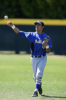 April 7, 2010: Rio Ruiz of Bishop Amat High School during National Classic Tournament in Anaheim,CA.  Photo by Larry Goren/Four Seam Images