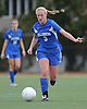 Kellenberg No. 9 Caleigh Bennett moves the ball downfield during the NSCHSAA varsity girls' soccer Class AA championship against St. Anthony's at St. John the Baptist High School on Thursday, October 29, 2015. St. Anthony's won by a score of 3-0.<br /> <br /> James Escher