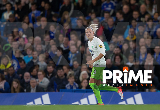Scorer of 3 goals Zsanett Jakabfi of VfL Wolfsburg (women) during the UEFA Women's Champions League match between Chelsea Ladies and VfL Wolfsburg at Stamford Bridge, London, England on 5 October 2016. Photo by Andy Rowland.