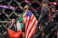BOSTON, EUA, 18.10.2019 - UFC-BOSTON - Lutadores Dominick Reyes (vermelho) e Chris Weidman (azul) durante UFC Fight Night no Td Garden em Boston no Estado de Massachusetts nos Estados Unidos na noite desta sexta-feira, 18. (Foto: Vanessa Carvalho/Brazil Photo Press)