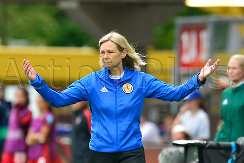 July 23rd 2017, Sparta Stadion, Rotterdam, Netherlands; Womens Euro 2017 Finals, Group D Match; Scotland versus Portugal;  Scotland manager Anna Signuel asks what has she got to do as her team falls behind