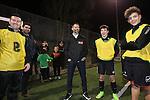 McDonalds Football<br /> Ryan Giggs visiting Risca Football Club training session.<br /> 06.03.15<br /> ©Steve Pope - SPORTINGWALES