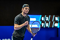 Alphen aan den Rijn, Netherlands, December 21, 2019, TV Nieuwe Sloot,  NK Tennis, Tim van Rijthoven (NED) plays himself in the final and celebrates	<br /> Photo: www.tennisimages.com/Henk Koster