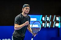 Alphen aan den Rijn, Netherlands, December 21, 2019, TV Nieuwe Sloot,  NK Tennis, Tim van Rijthoven (NED) plays himself in the final and celebrates<br /> Photo: www.tennisimages.com/Henk Koster