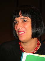 Eve Ensler, playwright performer and activist authored The Vagina Monologues which has been translated into over 50 languages and performed in over 140 countries. It inspired the creation of V day 15 years ago to stop violence against women and girls including rape assault female genital mutilation incest, and sexual slavery.  But the UN says that 1-3 women will be raped or beatan in her lifetime. Which is more than 1 billion women.  In 2013 women throughout the world on February 14th participated in One Billion Rising in 205 countries. She was speaking at an event at the John F Kennedy Library on December 10, 2003 the anniversary