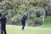 Sergio Garcia (ESP) plays his 2nd shot on the 10th hole during Saturday's storm delayed Round 2 of the Andalucia Valderrama Masters 2018 hosted by the Sergio Foundation, held at Real Golf de Valderrama, Sotogrande, San Roque, Spain. 20th October 2018.<br /> Picture: Eoin Clarke | Golffile<br /> <br /> <br /> All photos usage must carry mandatory copyright credit (&copy; Golffile | Eoin Clarke)