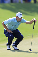 Matthew Fitzpatrick (ENG) on the 18th green during Friday's Round 2 of the 2017 PGA Championship held at Quail Hollow Golf Club, Charlotte, North Carolina, USA. 11th August 2017.<br /> Picture: Eoin Clarke | Golffile<br /> <br /> <br /> All photos usage must carry mandatory copyright credit (&copy; Golffile | Eoin Clarke)