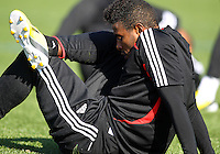 WASHINGTON, DC - February 06, 2012: Lionard Pajoy of DC United during a pre-season practice session at Long Bridge Park, in Arlington, Virginia on February 6, 2013.