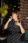 "As The World Turns' Lauren B. Martin hosts ""Sing for Autism Karaoke"" on October 6, 2017 - a part of the Guiding Light Daytime Stars and Strikes for Autism weekend at the Residence Inn, Secaucus, New Jersey. (Photo by Sue Coflin/Max Photo)"