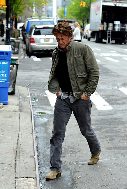 ACEPIXS.COM<br /> <br /> May 9, 2014, New York City<br /> <br /> Actor Sean Penn goes for a walk  in Tribeca on May 9 2014 in New York City<br /> <br /> <br /> By Line: Curtis Means/ACE Pictures<br /> <br /> ACE Pictures, Inc.<br /> www.acepixs.com<br /> Email: info@acepixs.com<br /> Tel: 646 769 0430