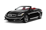 2015 Infiniti Q60 Ipl 2 Door Convertible angular front stock photos of front three quarter view