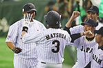 Sho Nakata (JPN), <br /> NOVEMBER 15, 2014 - Baseball : <br /> 2014 All Star Series Game 3 between Japan 4-0 MLB All Stars <br /> at Tokyo Dome in Tokyo, Japan. <br /> (Photo by Shingo Ito/AFLO SPORT)[1195]