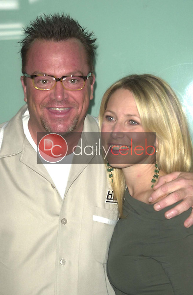 Tom Arnold and wife