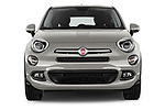 Car photography straight front view of a 2017 Fiat 500X Lounge 5 Door SUV Front View