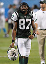 DAVID CLOWNEY, of the New York Jets in action during the Jets game against the Carolina Panthers  at Bank of America Stadium in Charlotte, N.C.  on August 21, 2010.  The Jets beat the Panthters 9-3 in the second week of preseason games...