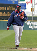 May 3, 2004:  Anastacio Martinez of the Pawtucket Red Sox, Triple-A International League affiliate of the Boston Red Sox, during a game at Dunn Tire Park in Buffalo, NY.  Photo by:  Mike Janes/Four Seam Images