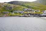The harbour at Castlebay, Barra, Outer Hebrides, Scotland, UK