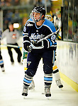 29 January 2010: University of Maine Black Bears' forward Gustav Nyquist, a Sophomore from Malmo, Sweden, in first period action against the University of Vermont Catamounts at Gutterson Fieldhouse in Burlington, Vermont. The Black Bears defeated the Catamounts 6-3 in the first game of their America East weekend series. Mandatory Credit: Ed Wolfstein Photo