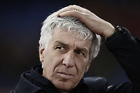 Calcio, Serie A: AS Roma - Atalanta, Roma, stadio Olimpico, 6 gennaio 2018.<br /> Atalanta's coach Gian Piero Gasperini waits for the start of the talian Serie A football match between AS Roma and Atalanta at Rome's Olympic stadium, January 6 2018.<br /> UPDATE IMAGES PRESS/Isabella Bonotto