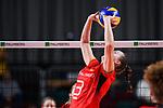 16.08.2019, …VB Arena, Bremen<br />Volleyball, LŠnderspiel / Laenderspiel, Deutschland vs. Polen<br /><br />Zuspiel Denise Hanke (#3 GER)<br /><br />  Foto © nordphoto / Kurth