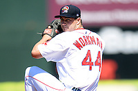 Portland Sea Dogs pitcher Brandon Workman #44 during a game versus the Reading Phillies at Hadlock Field in Portland, Maine on September 3, 2012.  (Ken Babbitt/Four Seam Images)