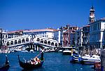 Die Rialtobrücke, Canale Grande