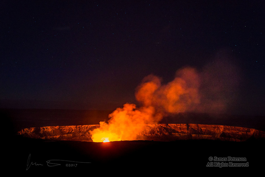 Kilauea Caldera Lava Lake, Hawaii  ©2017 James D Peterson