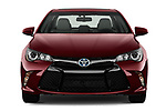 Car photography straight front view of a 2015 Toyota camry hybrid 4 Door Sedan