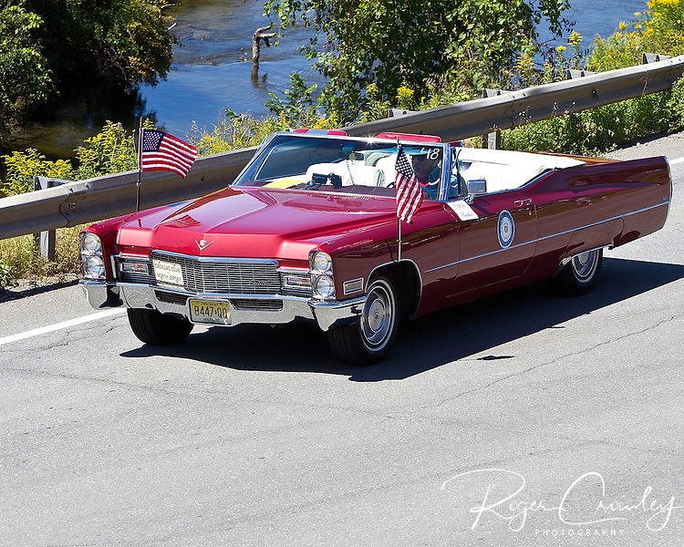 BARTON VT - 144th Orleans County Fair in the scenic Northeast Kingdom village of Barton, Vermont broke the Guinness World Records of the longest Cadillac Parade in history with 298 cars Wednesday in Barton Vermont..