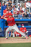 6 March 2019: Philadelphia Phillies top prospect outfielder Austin Listi at bat during a Spring Training game against the Toronto Blue Jays at Dunedin Stadium in Dunedin, Florida. The Blue Jays defeated the Phillies 9-7 in Grapefruit League play. Mandatory Credit: Ed Wolfstein Photo *** RAW (NEF) Image File Available ***