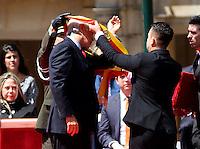 BOGOTA -COLOMBIA , 1 ,ENERO-2016. Enrique Peñaloza Londoño se posesionó en la Plaza de Bolívar ante de más de 500 invitados como nuevo Alcalde Mayor de Bogotá  / .Enrique Peñalosa Londoño took office in Plaza de Bolivar  with more than 500 guests as new Mayor of Bogota  . Photo: VizzorImage / Felipe Caicedo / Staff