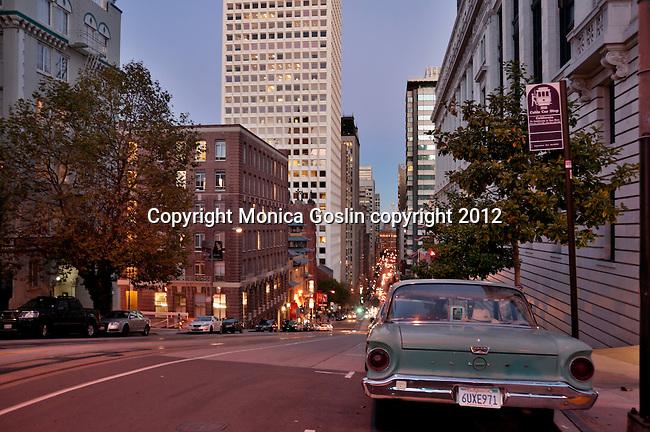 Looking down California Street in San Francisco