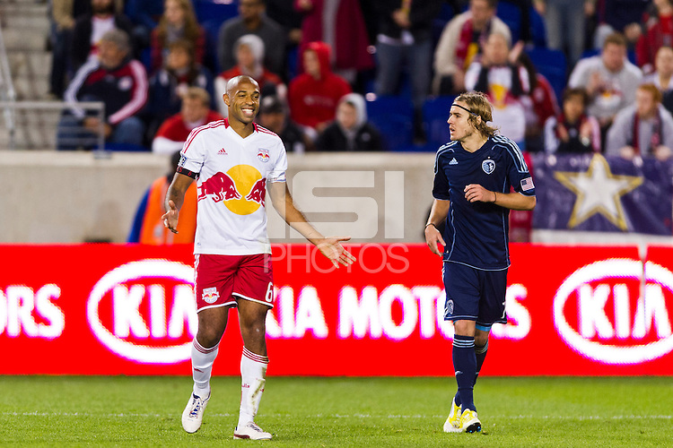 Thierry Henry (14) of the New York Red Bulls. The New York Red Bulls and Sporting Kansas City played to a 0-0 tie during a Major League Soccer (MLS) match at Red Bull Arena in Harrison, NJ, on October 20, 2012.