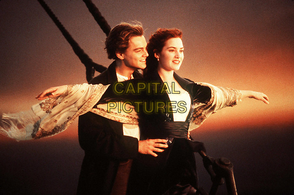 Titanic (1997)<br /> Leonardo DiCaprio &amp; Kate Winslet<br /> *Filmstill - Editorial Use Only*<br /> CAP/KFS<br /> Image supplied by Capital Pictures