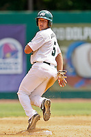 April 23, 2011:    Jacksonville University Dolphins outfielder Dan Gulbransen (5) during Atlantic Sun Conference action between Stetson Hatters and Jacksonville University Dolphins at John Sessions Stadium in Jacksonville, Florida.  Jacksonville defeated Stetson 10-4...........