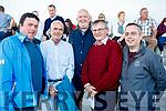 Pictured at the Kingdom Greyhound Stadium, Tralee, GAA Night of Champions on Friday night last were l-r: Jonathan Best (Ardfert), Pat Horgan (Dublin) Johnny Sullivan (Castleisland), John Kelliher (Kildare) and John Begley (Castleisland).