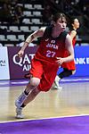 Saki HayashI (JPN), <br /> AUGUST 15, 2018 - Basketball : Women's Qualification round match between Hong Kong 44-121 Japan at Gelora Bung Karno Basket Hall A during the 2018 Jakarta Palembang Asian Games in Jakarta, Indonesia.<br /> (Photo by MATSUO.K/AFLO SPORT)