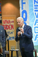 LAS VEGAS, NV - January 11 : Joe Biden speaks at the Community Event 'Mi Familia Vota' at Rancho High School in Las Vegas, Nevada on January 11, 2020.    <br /> CAP/MPI/DAM<br /> ©DAM/MPI/Capital Pictures