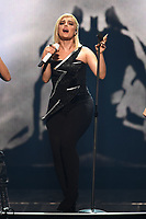 MIAMI, FL - AUGUST 07: Bebe Rexha performs during opening night of the Jonas Brothers 'Happiness Begins Tour' at the AmericanAirlines Arena on August 7, 2019 in Miami Florida. <br /> CAP/MPI04<br /> ©MPI04/Capital Pictures