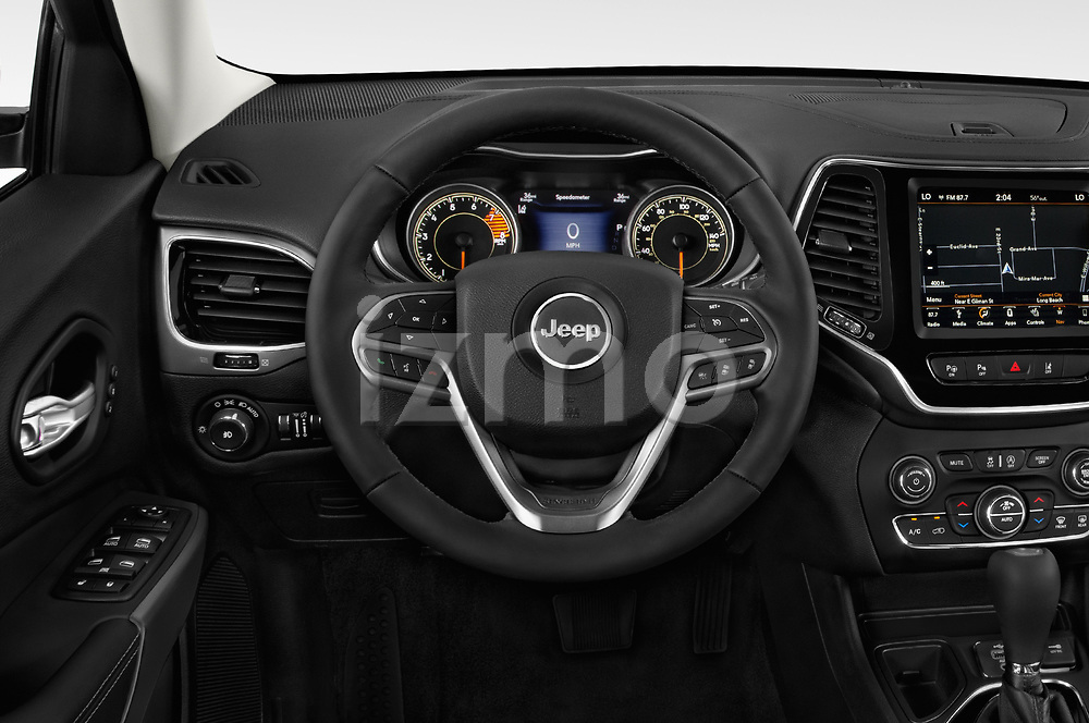Car pictures of steering wheel view of a 2018 JEEP Cherokee Limited 5 Door SUV Steering Wheel